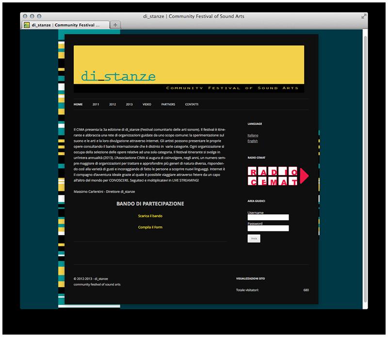 DI_STANZE Community Festival of Sound Arts Progettazione template