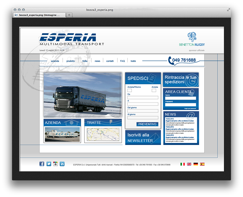 ESPERIA Multimodal Transport - Progetto layout